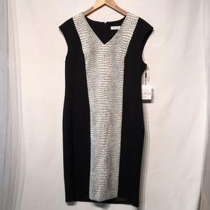 NWT Calvin Klein Sleeveless Black Dress Size 12